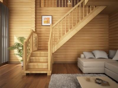 Rebrík v vidieckom dome foto